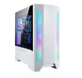 Lian-Li PC-LAN2W Mid-Tower: LANCOOL II W, E-ATX RGB Tempered Glass Side Case - WHITE (PC-LAN2W)