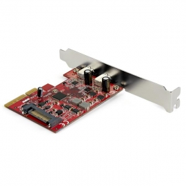 Startech PCIe USB 3.1 Card - 2x USB C 3.1 Gen 2 10Gbps - PCIe Gen 3 x4 - ASM3142 Chipset - USB Type C PCI Express Card Pexusb312C3