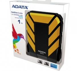 Adata Hd710d 1tb Usb 3.0 Military-grade Water Resistant/ Shockproof Portable External Drive (yellow Color)