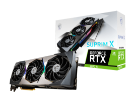 MSI RTX 3070 Ti SUPRIM X 8G nVidia Geforce RTX 3070 Ti SUPRIM X 8G GDDR6X Extreme Performance 1875 MHz,