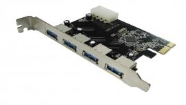 Volans Usb 3.0 4-port Pci-e Expansion Card 4pin Molex Power Pu34