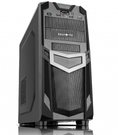 "Tsunami Mid Tower Case: ATX/ Micro-ATX 2.5"" bay, 1 x USB3.0 + 2 x USB2.0, Black color no PSU R03"