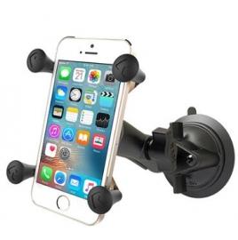 Ram Mounts Ram Twist Lock Suction Cup Mount With Universal X-grip Cell/ Iphone Cradle Ram-b-166-un7u