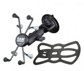 "Ram Mounts Ram Twist Lock Suction Cup Mount With Universal X-grip Cradle For 7"" Tablets Ram-b-166-un8u"