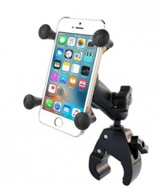 Ram Mounts Ram Small Tough-claw Base With Double Socket Arm And Universal X-grip Cell/iphone Cradle