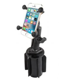 Ram Mounts Ram-a-can Ii Universal Cup Holder Mount With Universal X-grip Cell/iphone Cradle Rap-299-3-un7b