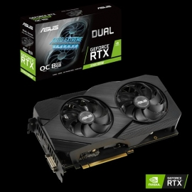 ASUS Dual GeForce® RTX 2060 SUPER™ EVO V2 OC 8GB GDDR6, 1725MHz, 7680x4320 @60Hz (DUAL-RTX2060S-O8G-EVO-V2)
