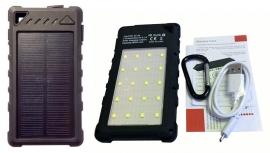 Rugged Solar Power Bank 8000 Mah With 20 Led Lights 5w Strong Lighting Eledigeipbds8000