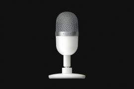 Razer Seiren Mini - Ultra-Compact Condenser Microphone - Mercury - FRML Packaging (RZ19-03450300-R3M1)