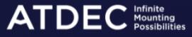 "ATDEC DUAL MONITOR DESK MOUNT, UP TO 27"" & 8KG, VESA 75x75, 100x100, WHITE, 10 YR WTY"