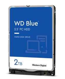 """WD BLUE INTERNAL 2.5"""" MOBILE SATA DRIVE, 2TB, 6GB/S, 5400RPM WD20SPZX"""
