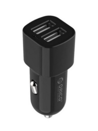 Orico Car Charger: 2 Port Usb Car Charger Black 12V/ 24V 3.4A Max 17W With Intelligent IC UCL-2U-BK-PRO