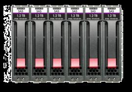 HPE MSA 7.2TB SAS 12G Enterprise 10K SFF (2.5in) 512n 6-pack HDD Bundle (R0P85A)