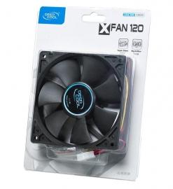 DeepCool XFAN 120 120mm Case Fan: Hydro Bearing 3 Pin / Molex Connector (XFAN 120)