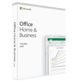 Microsoft Office Home And Business 2019 Medialess - 1 User For Pc & Mac T5D-03301