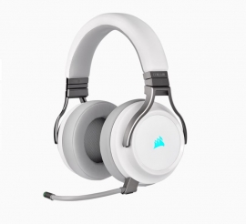 Corsair Virtuoso Wireless Rgb White 7.1 Headset. High Fidelity Ultra Comfort Supports Usb And 3.5Mm Gaming Headset Ca-9011186-Ap