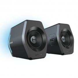 Edifier G2000 Gaming 2.0 Speakers System - Bluetooth V4.2/ USB Sound Card/ AUX Input/RGB 12 Light Effects/ 16W RMS Power