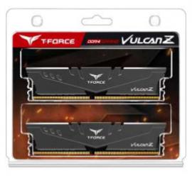 Team T-Force Vulcan Z 32GB (2x16GB) DDR4 3600MHz DIMM Grey Heatspreader (TLZGD432G3600HC18JDC01)