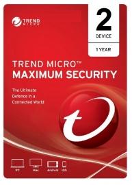 Trend Micro TICEWWMBXSBJEO Maximum Security - 2 Device 1 Year OEM, PC/Mac/Android/iOS