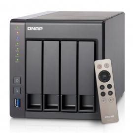 Qnap Ts-451+ -2g, Nas, 4bay (no Disk), Cel Qc-2.0ghz, 2gb, Usb, Gbe (2), Twr, 2yr Ts-451+-2g
