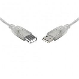 Teamforce Usb 2.0 Extension A-a M-f Transparent Metal Sheath Cable 25cm Uc-2000aae