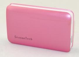 Seasontech Power Bank 7800mah 5v Dual Usb Output 1a + 2.1a Fast Charging, Backup Power For Mobile