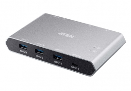 Aten Usb-C Gen 2 Sharing Switch With Power Pass Through (Us3342-At)