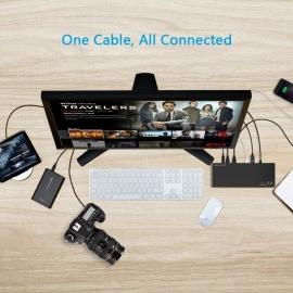 Wavlink Usb-C Ultra 5K Laptop Docking Station Wl-Ug69Dk1 USBWINWLUG69DK1