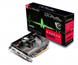 SAPPHIRE AMD RADEON PULSE RX 550 2GB Gaming GDDR5 HDMI / DVI-D / DP OC 11268-21-20G