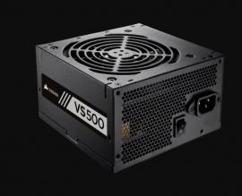 Corsair VS500# ATX PSU: 500W VS Series 80 PLUS Certified 120mm Fan, 2x PCI-E, 7x SATA, 1x Floppy