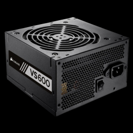 Corsair VS Series™ VS600 — 600 Watt 80 PLUS® White Certified PSU (VS600)