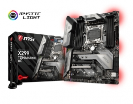 Msi X299 Tomahawk Ac Intel Atx Motherboard Gaming Socket 2066 8xddr4 2xm.2 8xsataiii Usb3.1 1a2c
