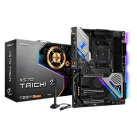 AsRock Motherboard; CPU: AMD AM4 Socket Ryzen 2000 & 3000 processors;Chipset:AMD Premium X570;Memory:Dual Channel, 4 x DDR4 DIMM Slots (X570 Taichi)