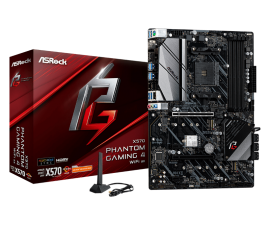 ASRock X570 Phantom Gaming WiFi AX MB X570 With WiFi ATX: AM4 Socket for Ryzen Selected Processors