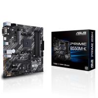 Asus AMD B550 (Ryzen AM4) micro ATX motherboard with dual M.2, PCIe 4.0, 1 Gb Ethernet, HDMI/D-Sub/DVI, SATA 6 Gbps, USB 3.2 Gen 2 Type-A (PRIME-B550M-K)