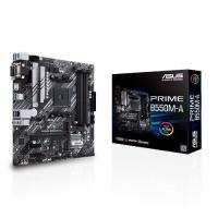 ASUS AMD B550 PRIME B550M-A (Ryzen AM4) mATX MB, Dual M.2, PCIe 4.0, 1Gb Ethernet, HDMI/D-Sub/DVI, SATA 6Gbps, USB 3.2 Gen 2 A, Aura Sync RGB (PRIME B550M-A)