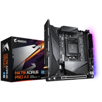 Gigabyte Intel H470 Mini-ITX AORUS Motherboard with Direct 5+1 Phase Digital VRM Design solution with DrMOS, Thermal Baseplate, Intel WiFi 6 802.11ax, Dual Intel LAN (M/B H470I AORUS PRO AX 1.0)