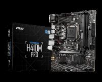 MSI H410M-PRO Motherboard H410 Micro-ATX: Socket 1200 For Intel 10th Gen. Processors, 2x DDR4,